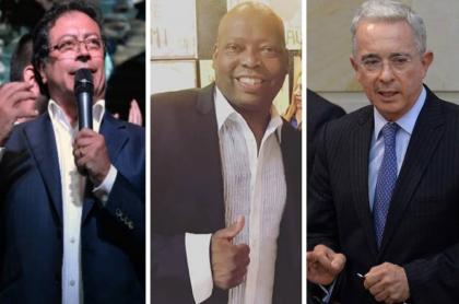 Gustavo Petro, Faustino Asprilla y Álvaro Uribe