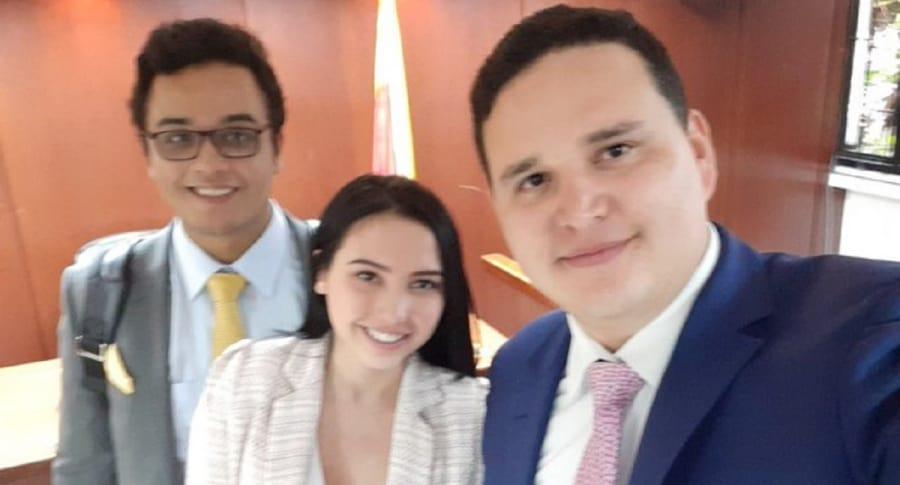 Harold Vega, Aída Victoria Merlano y Felipe Caballero