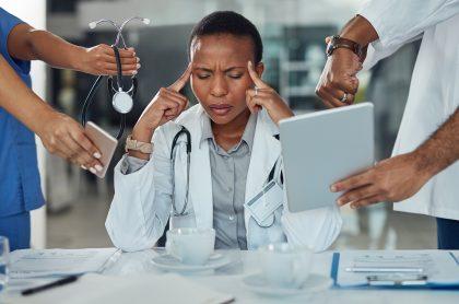Médica enferma