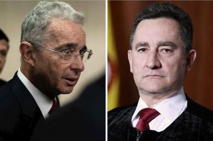 Álvaro Uribe y magistrado Álvaro García