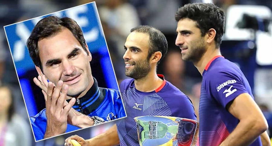 Roger Federer; Juan S. Cabal y Robert Farah