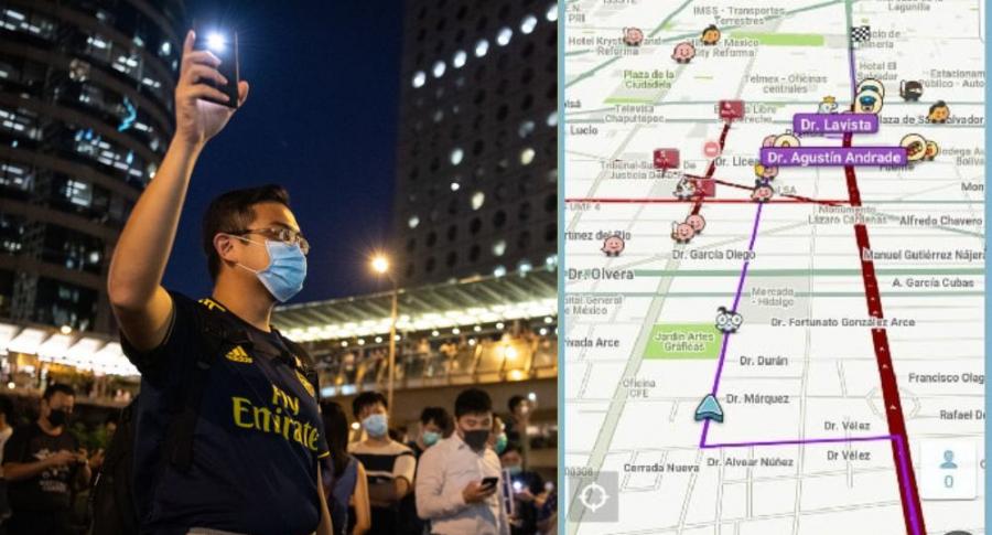 Celulares de manifestantes Hong Kong
