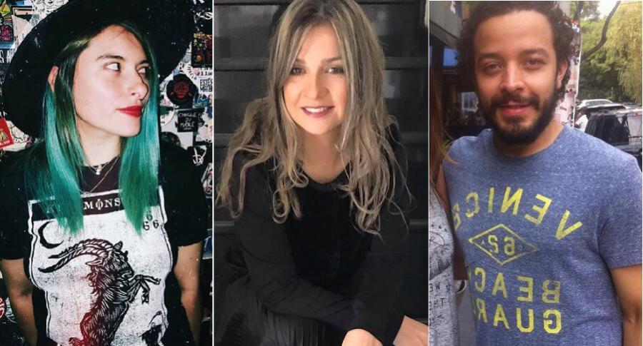 'Wanda Maximoff', tuitera; Vicky Dávila, presentadora; y Rafael Londoño, actor.