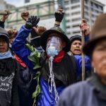 Protestantes indígenas de Ecuador