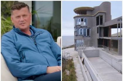 Hombre que quiso construir casa soñada.