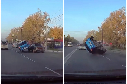 Carro volcado.