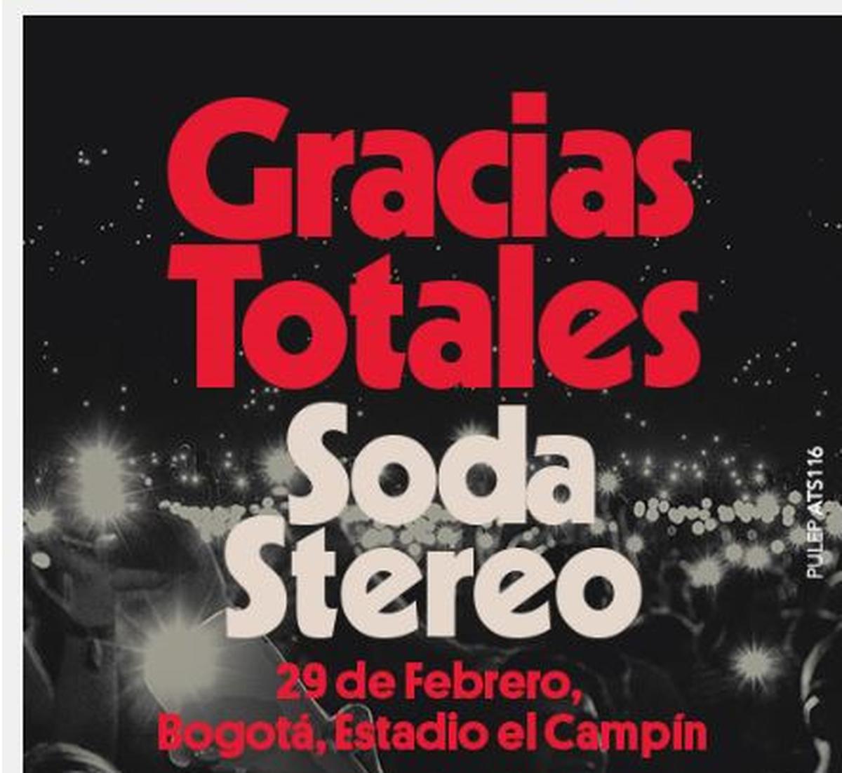 Afiche publicitario concierto Soda Stereo