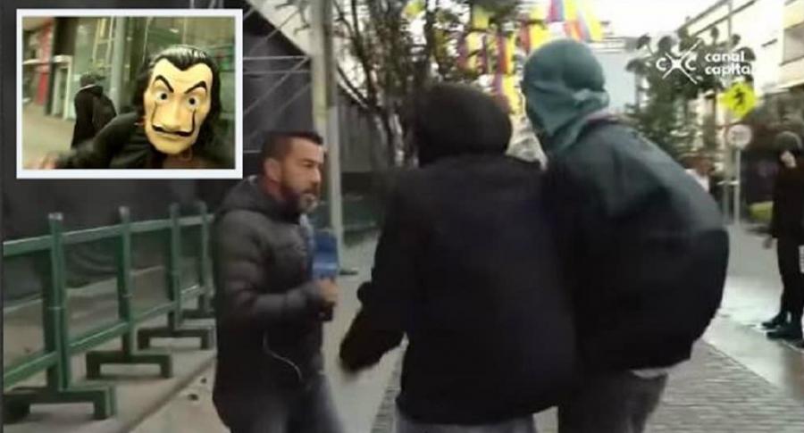 Ataque a periodistas en Bogotá