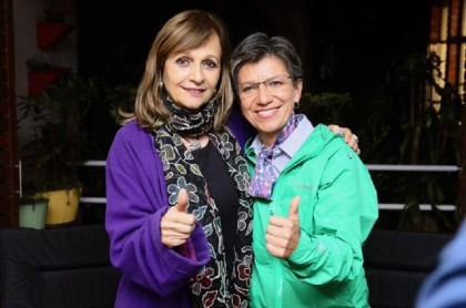 Ángela Robledo y Claudia López