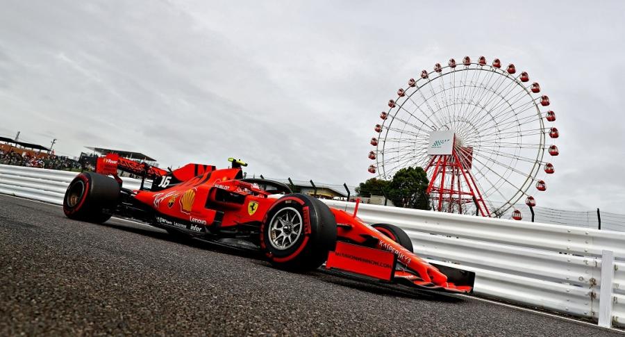 Charles Leclerc, de Ferrari, en Suzuka, Japón