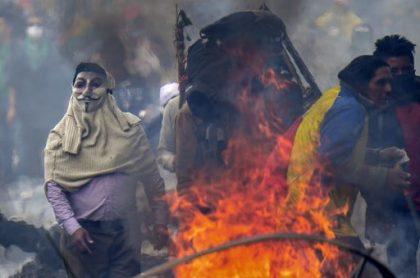 Décimo días de protestas en Quito, Ecuador
