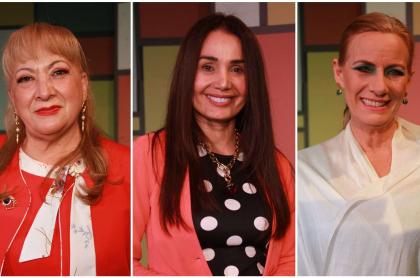 María C. Gálvez, Xilena Aycardi y Kristina Lilley