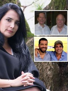 Aída Merlano, Julio y Roberto Gerlein, y Arturo y Alejandro Char