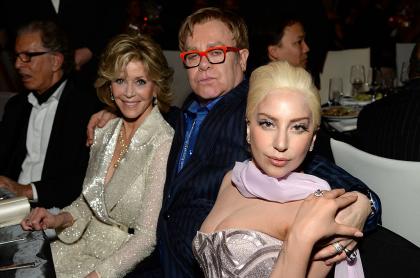 Jane Fonda, Elton John y Lady Gaga