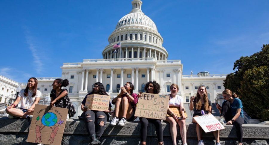 Protesta cambio climático Washington