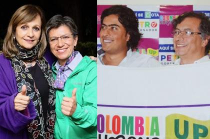 Ángela Robledo, Claudia López, Nicolás Petro y Gustavo Petro