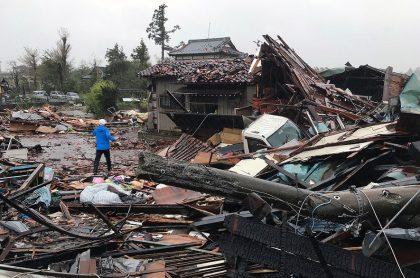 Daños en Japón por tifón Hagibi.
