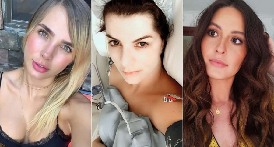 Elizabeth Loaiza, modelo; Carolina Cruz, presentadora; y Taliana Vargas, exreina.