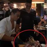 Falcao García en famoso restaurante