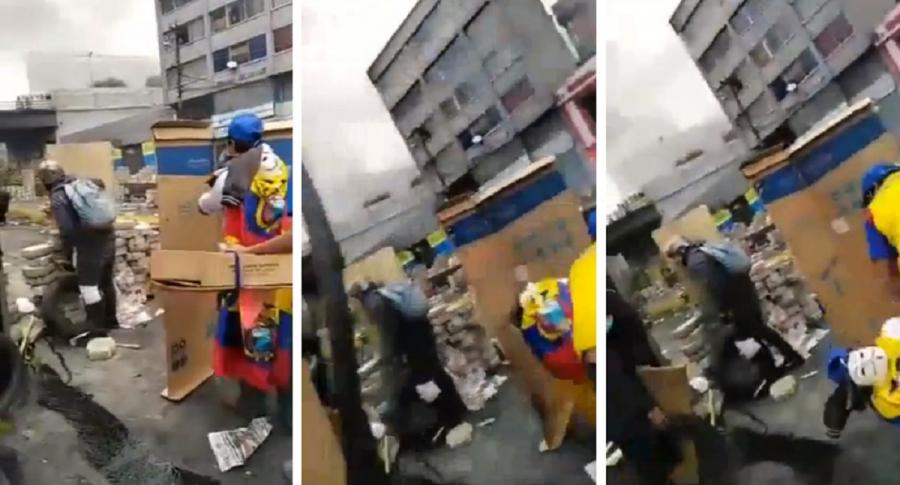 Manifestante ecuatoriano es impactado en la cabeza
