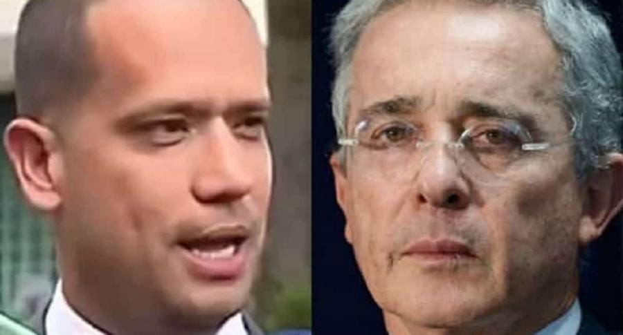 Diego Cadena y Álvaro Uribe