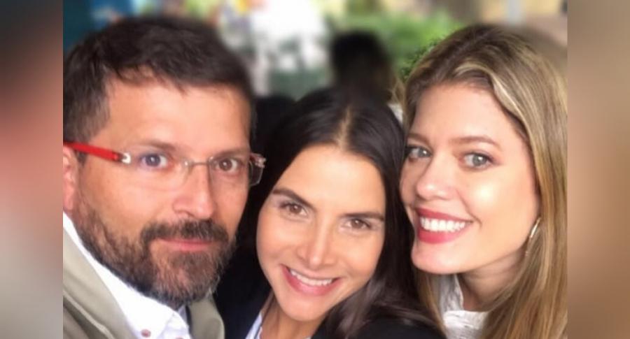 Julio César Herrera, Natalia Ramírez y Lorna Cepeda