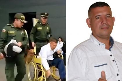 Víctor Agudelo en captura en el aeropuerto