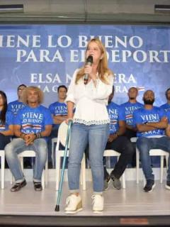 Elsa Noguera no podrá hacer más campaña a Gobernación: se cayó y se fracturó una pierna