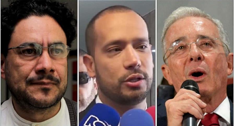 Iván Cepeda, Diego Cadena y Álvaro Uribe