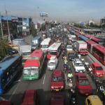 Trancón, carros Bogotá