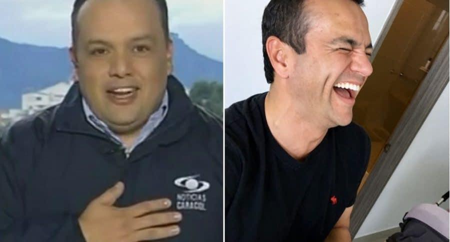 Edward Porras y Juan Diego Alvira, periodistas.