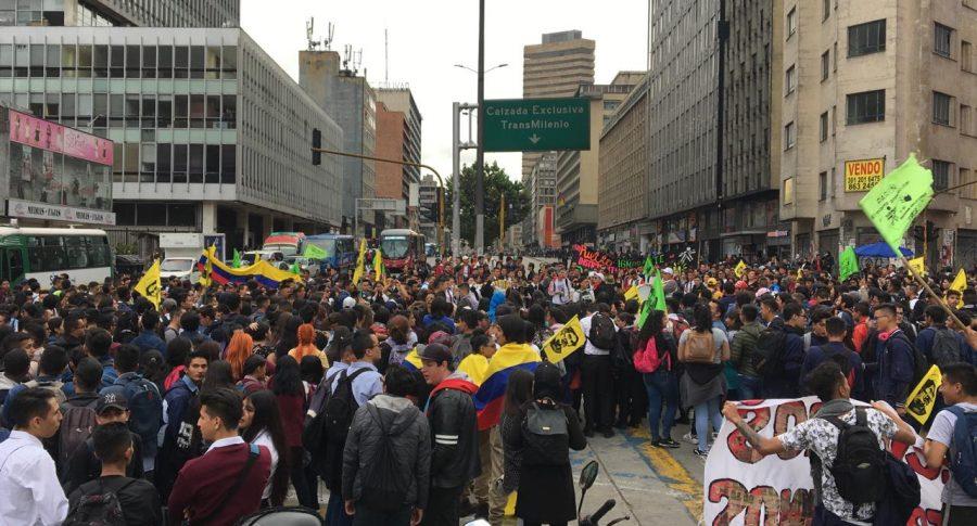 Bloqueos en Bogotá