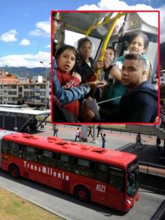 [Video] Agarrón entre pasajeros de Transmilenio porque hombre no habría cedido la silla
