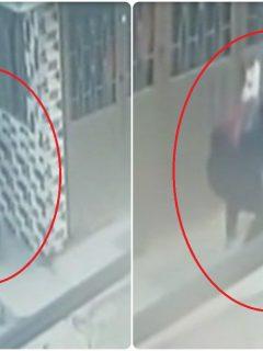 [Video] Mujer (a sangre fría) dejó tirada a recién nacida en una calle de Bogotá