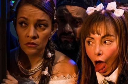 Alexandra Restrepo, Jona Cabrera y María Auxilio Vélez, humoristas.