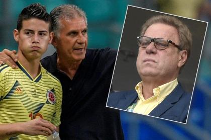 James Rodríguez, Carlos Queiroz y Ramón Jesurún