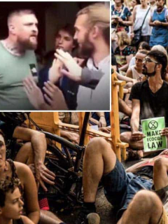 A empujones, hambriento hombre enfrentó a veganos que impedían entrada a McDonald's