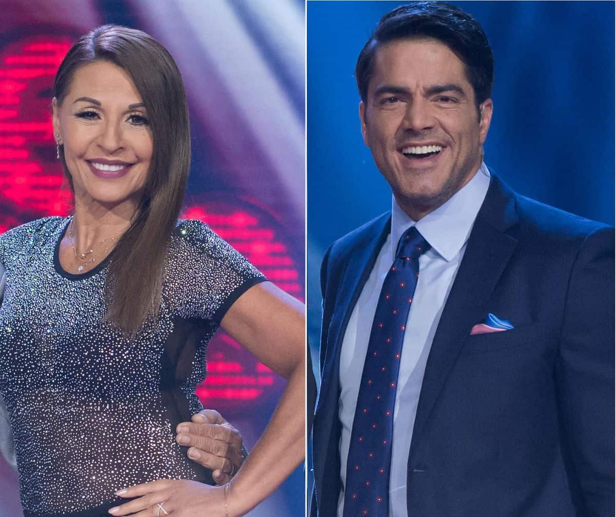 Amparo Grisales, actriz y jurado de 'Yo me llamo', y Ernesto Calzadilla, actor y presentador.