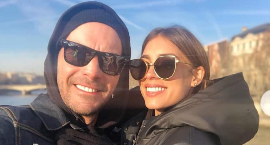 Diego Cadavid, actor, y su novia Laura Archbold, actriz.