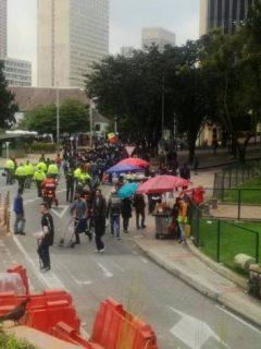 Carrera Séptima fue habilitada después de nuevas marchas de la U. Distrital