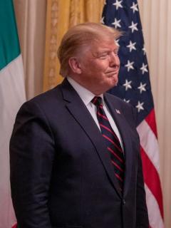 Donald Trump y Sergio Mattarella