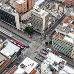 Calle de Bogotá con Transmilenio