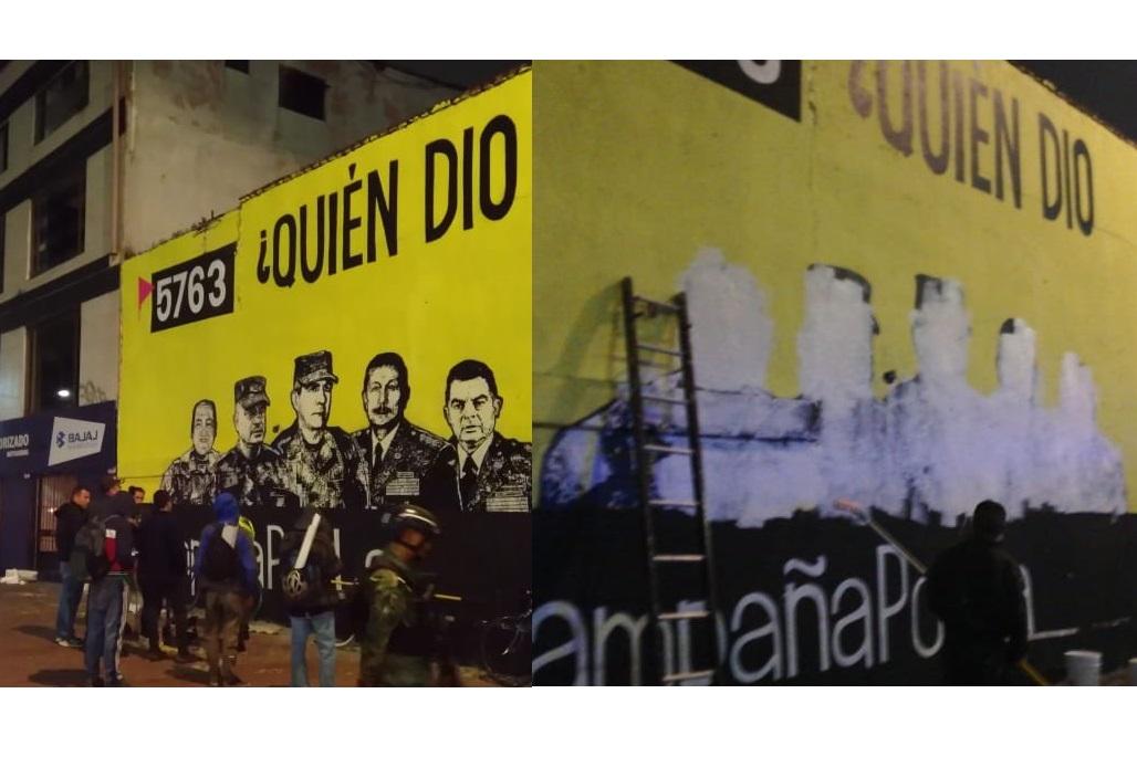 Mural tachado