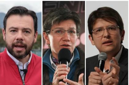 Hollman Morris, Carlos Fernando Galán, Claudia López y Miguel Uribe Turbay