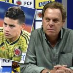 Carlos Queiroz, James Rodríguez y Ramón Jesurún