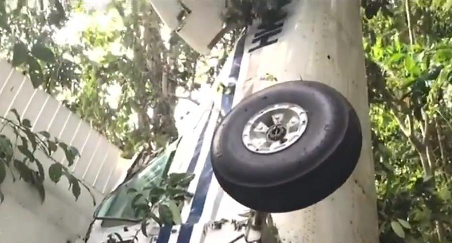 Avioneta accidentada