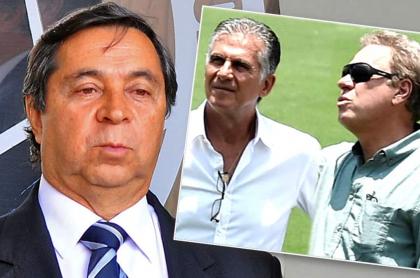 Álvaro González, Carlos Queiroz y Ramón Jesurún
