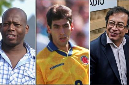 Faustino Asprilla, Andrés Escobar y Gustavo Petro