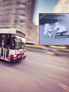 Papá evitó que su hijo muriera arrollado por un bus, pero él no tuvo la misma suerte