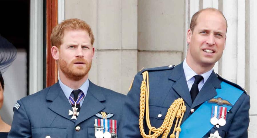 Prínicipes Harry y William